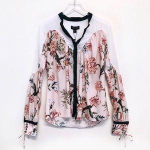 Stylestalker | Aries Floral Tie Cuff Blouse